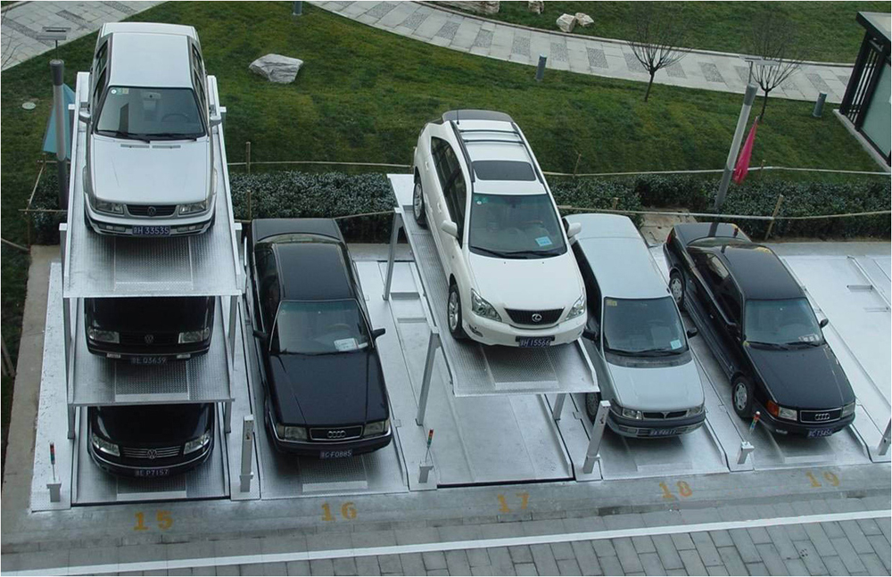 Vertical underground parking system